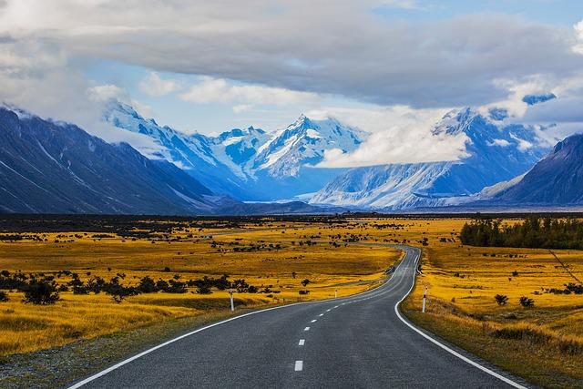 Mountain, Tourism, Nature, Road