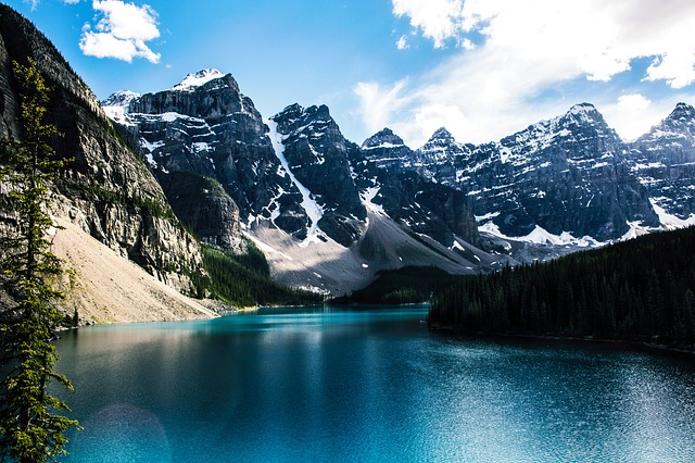 Moraine Lake, Lake, Mountain, Nature, Rocky, Moraine