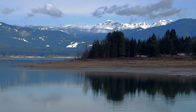 Mountain Scene, Lake View, Landscape, Mountains, Peace