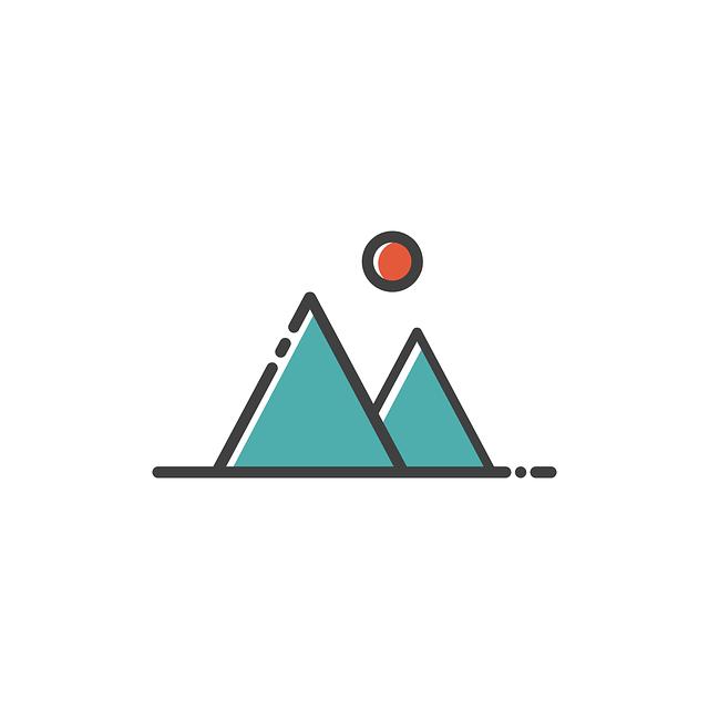 Mountain, Icon, Sign, Design, Symbol, Travel, Tourism