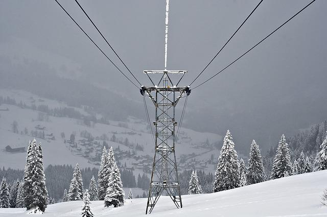 Snow, Winter, Cold, Mountain, Masts, Cable Car, Snowy