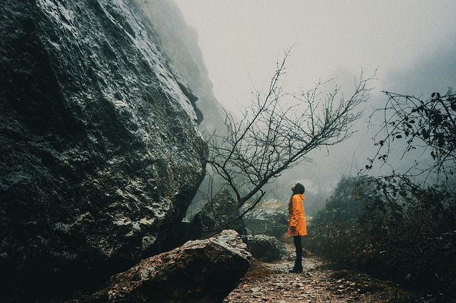 Nature, Fog, Outdoors, Landscape, Mountain, Stone
