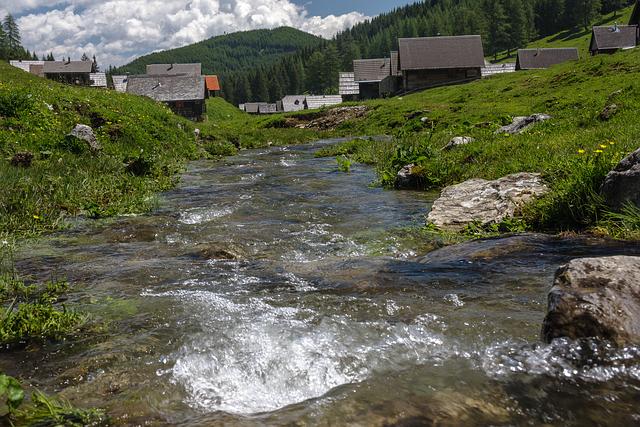 Mountain Stream, Alm, Carinthia, Austria, Nature