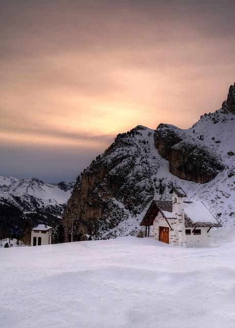 Arabba, Alps, Winter, Mountain, Ski, Sunset, Mountains