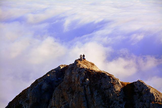 Top, Excursion, Clouds, Mountain, Carega, Italy
