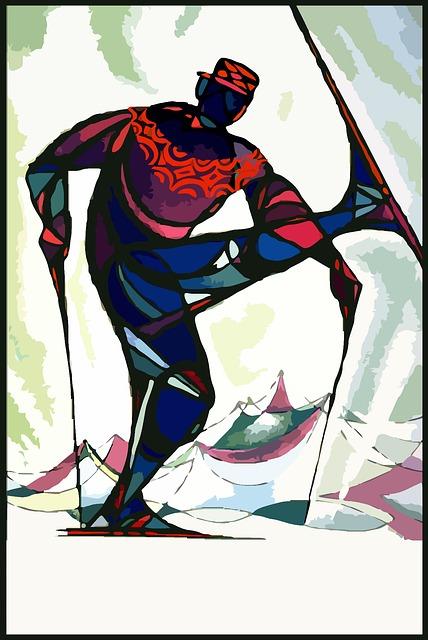 Ski, Vintage, Travel, Abstract, Winter, Sport, Mountain