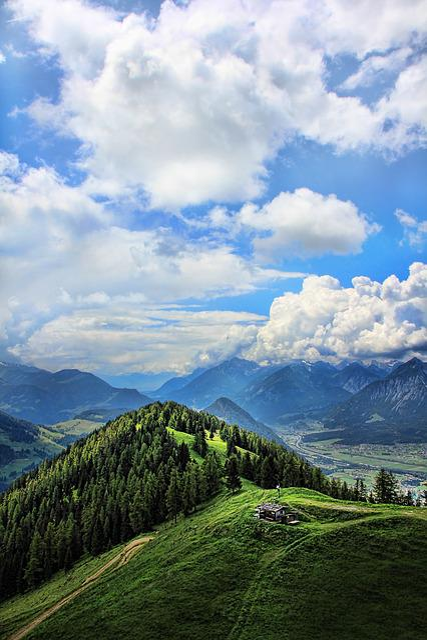 Mountain World, Landscape, Mountains, Alm, Alpine Hut