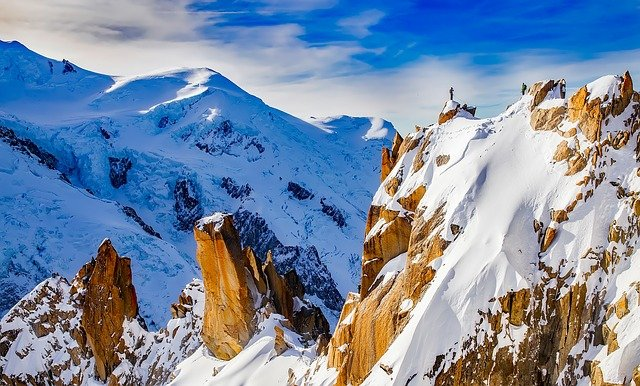 Mountains, Cosmiques Ridge, Mountaineering