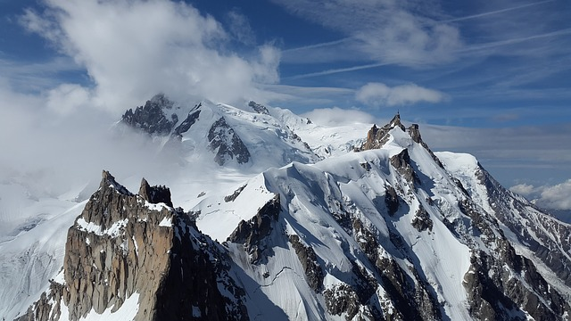 Mountains, Summit, Aiguille Du Midi, Chamonix