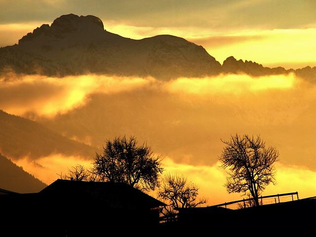 Alpine, Back Light, Abendstimmung, Mountains, Sun