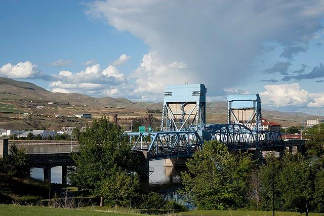Bridge, Idaho, Sky, Clouds, Architecture, Mountains