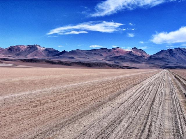 Altiplano, Desert, Mountains, Track, Atacama, Bolivia