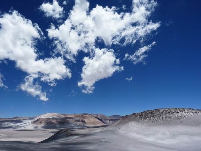 Andean, Desert, Andes, Mountains, Sky, Blue, Clouds