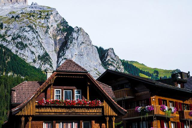 Swiss Farmhouse, Mountains, Chalet, Switzerland, Land