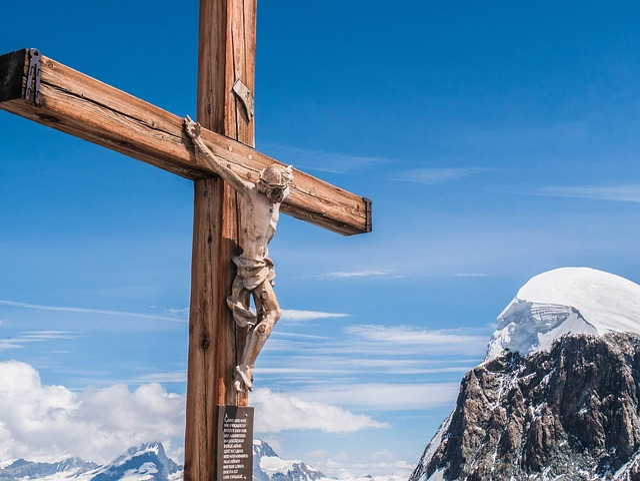 Cross, Valais, Mountains, Breithorn