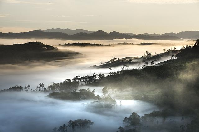 Mountains, Landscape, Da Lat, Vietnam, Planting, Hills