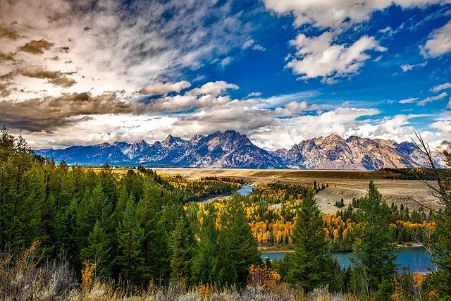 Grand Teton, National Park, Mountains, Destinations