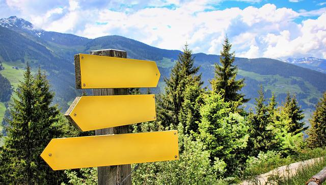 Directory, Mountains, Alpine, Hiking, Signs, Direction