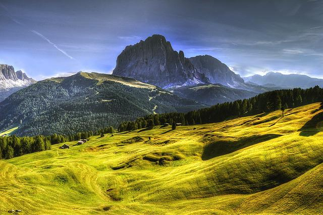 Dolomites, Kofel, Mountains, Away, Wall, Trees, Hiking