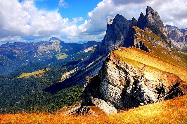 Dolomites, Seceda, Mountains, Val Gardena, South Tyrol
