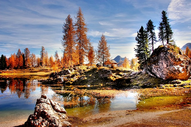 Dolomites, Mountains, Italy, Alpine, View, Nature, Lake
