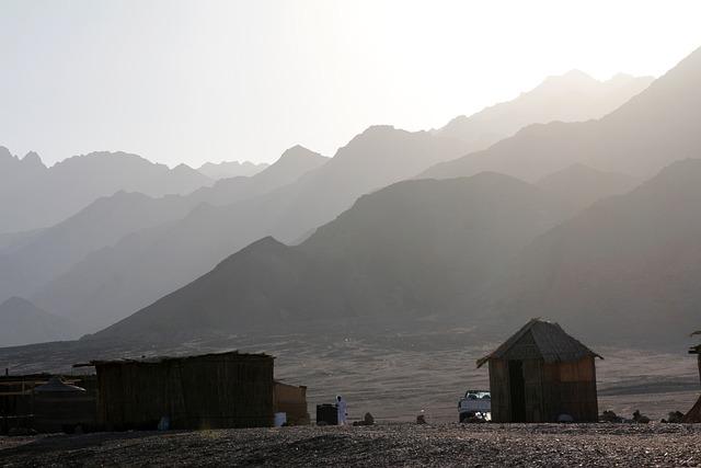 Egypt, Mountains, Log Cabin, Egypt Mountains