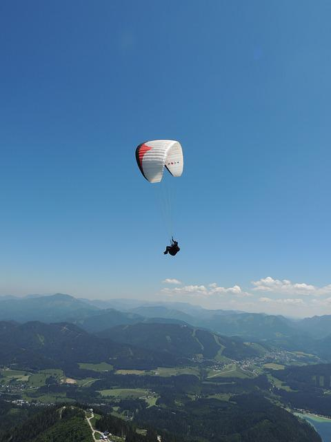 Paragliding, Mountains, Flying, Paraglider, Freedom