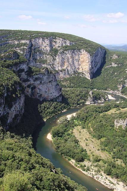 Ardèche, Gorge, Mountains, River