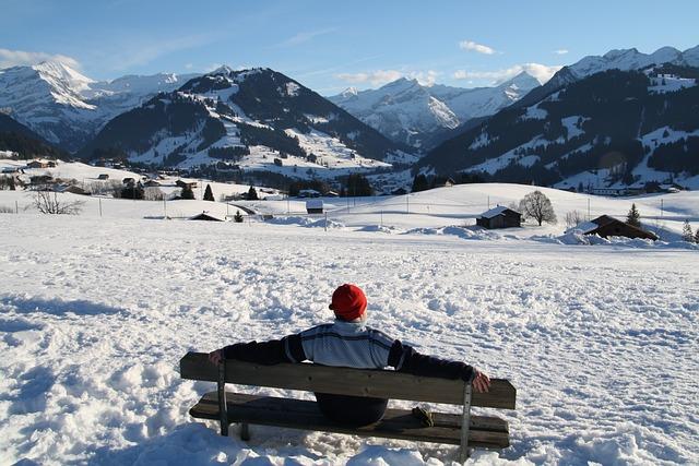 Snow, Mountains, Happy