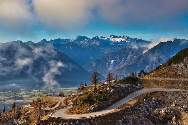 Loser Panorama Road, Dachstein, Mountains, Hiking