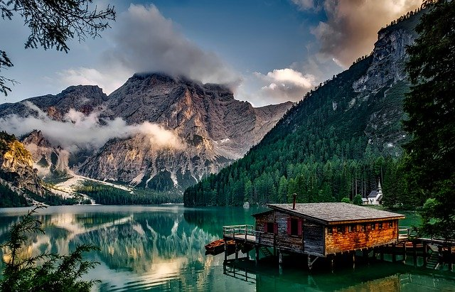 Mountains, Lake, House, Lake House, Alps, Alpine
