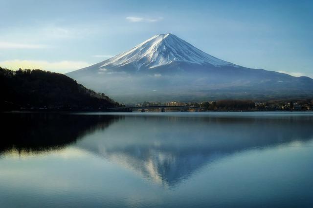 Mount Fuji, Japan, Mountains, Landmark, Sky, Clouds