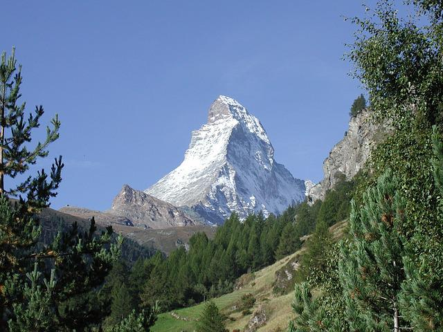 Switzerland, Zermatt, Matterhorn, Mountains, Landscape