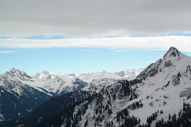Mountains, Alpine, Winter, Wintry, Montafon, Golm, View