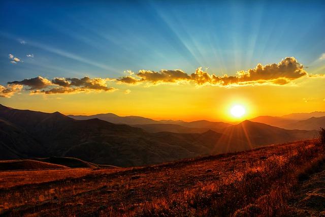 Sunset, Dawn, Nature, Mountains, Landscape, Kaçkars