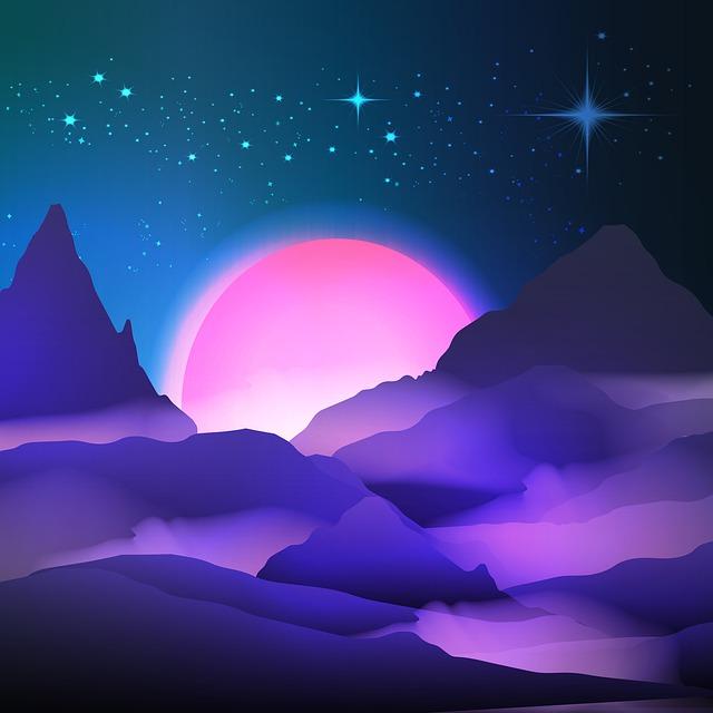 Mountain Sunrise, Mountains, Sunrise, Nature, Landscape