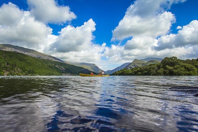 Lake, Reflection, Mountains, Panorama, Snowdonia