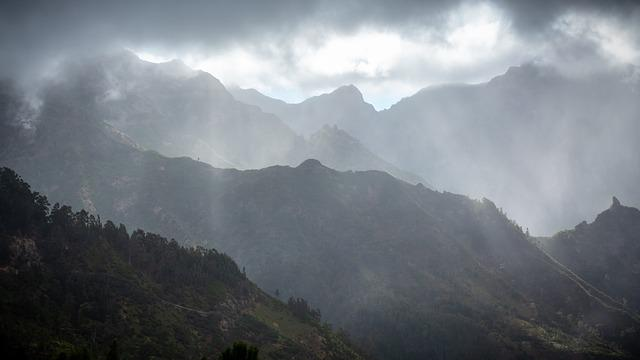Madeira, Mountains, Portugal, Nature, Clouds, Landscape