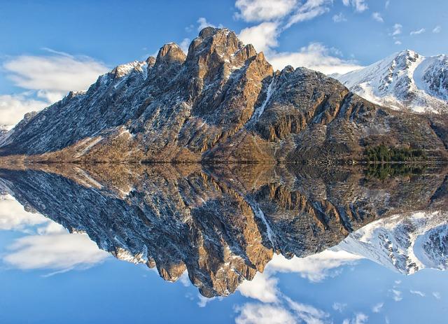 Mountains, Lake, Reflection, Alps, Alpine