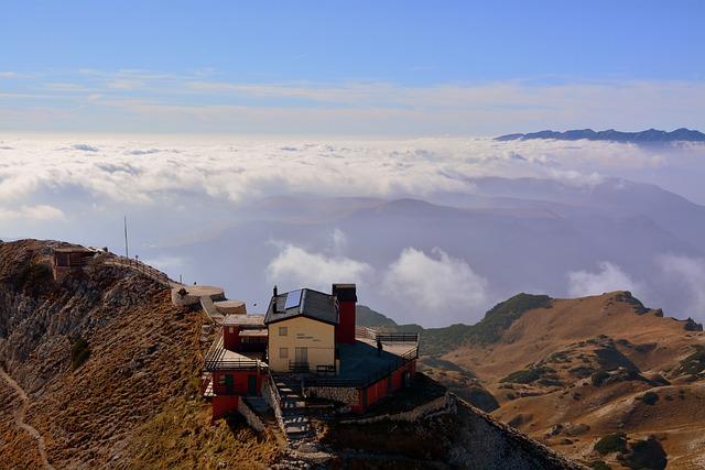 Refuge, Mountains, Clouds, Landscape, Sky, Cloud