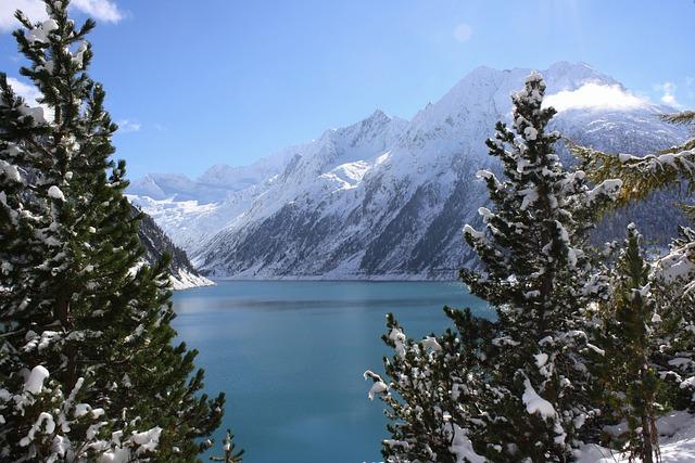 Reservoir, Schlegeis, Zillertal, Mountains, Alpine