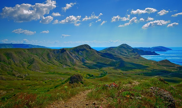 Crimea, Koktebel, Sea, Landscape, Mountains
