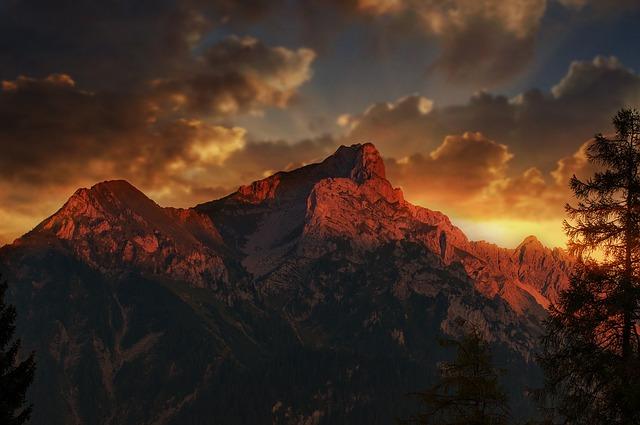 Landscape, Mountains, Twelve Head, Vorarlberg, Sky