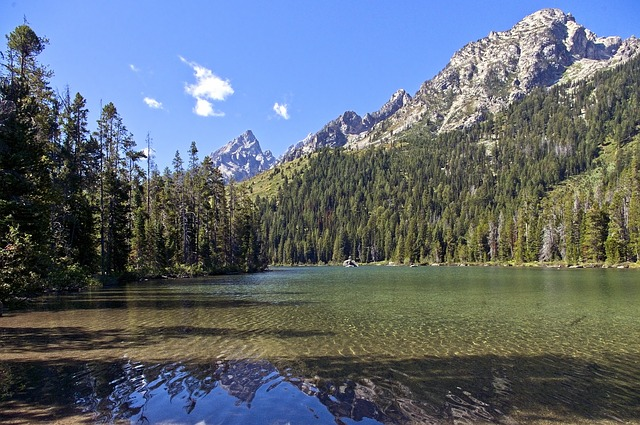 String Lake In Tetons, Mountains
