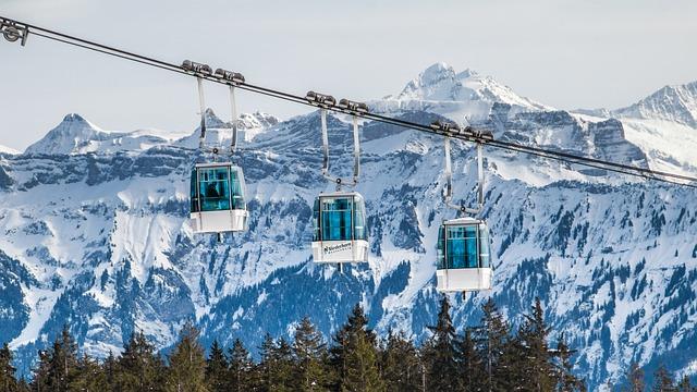 Gondolas, Switzerland, Niederhorn, Mountains