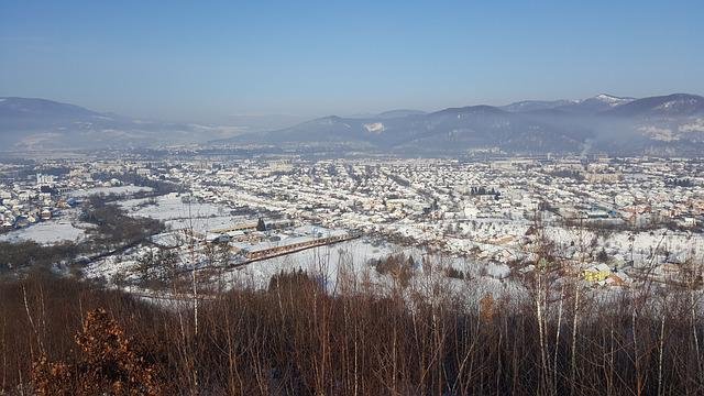 Mountains, City, Journey, Landscape, Winter, Ukraine