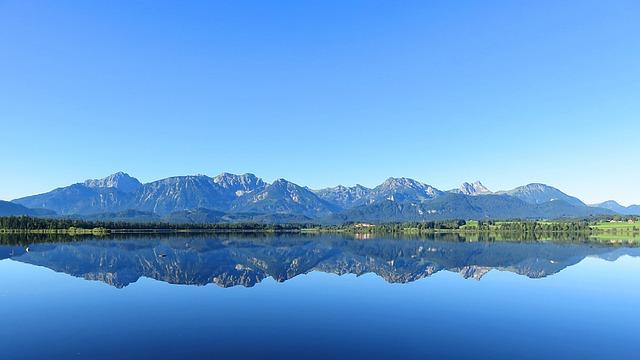 Mountains, Mirroring, Water, Lake, Landscape