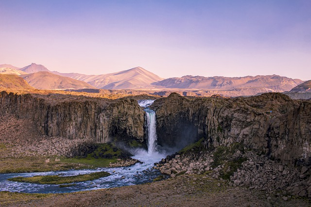 Waterfall, Mountains, Water, Landscape, Nature, Scenic