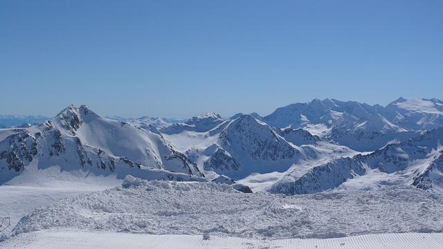 Austria, Stubai, Skis, Winter, Mountains