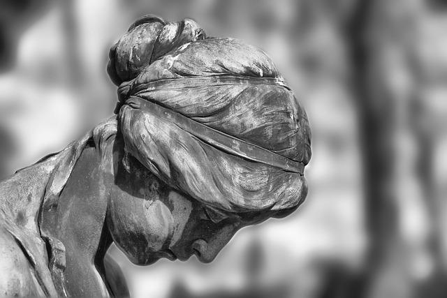 Sculpture, Statue, Stone Sculpture, Cemetery, Mourning
